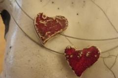 Keramikherz auf Edelstahldraht (3)